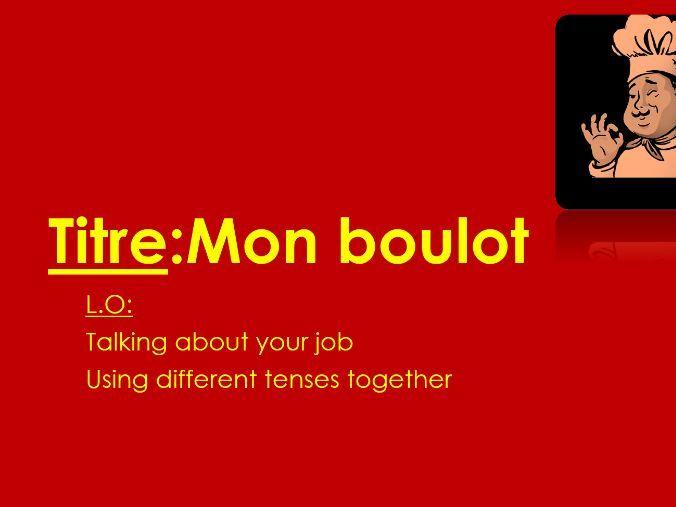 Studio 3 Rouge Module 3 À l'horizon Unité 5 pp. 62–63 Mon boulot