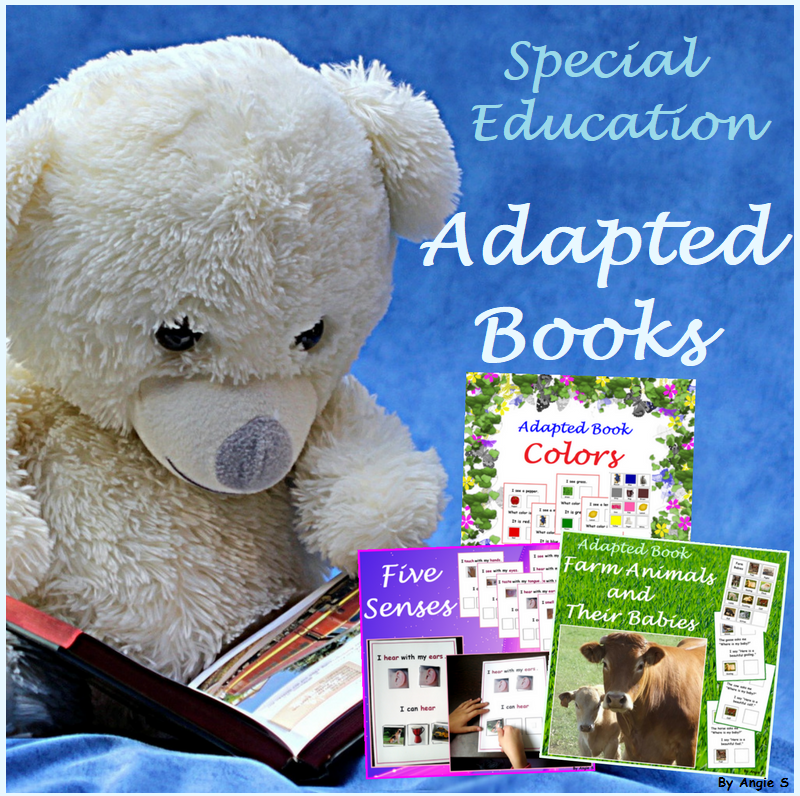 Adapted Books for Autism Bundle - Five Senses, Colors, Farm Animals