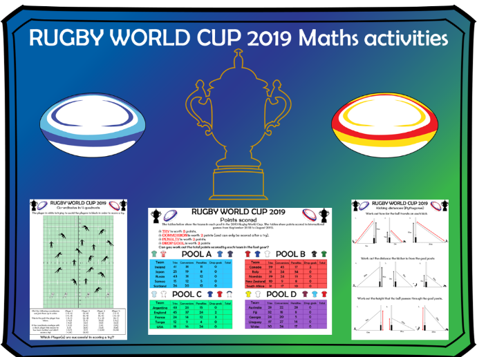 Rugby World Cup 2019 Maths activities