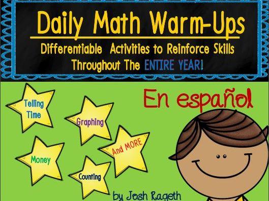 K-3 Spanish Daily Math Warm-Ups