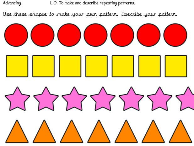 Maths - Shape and pattern