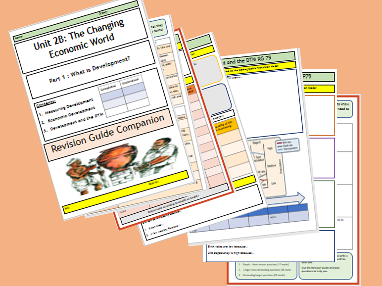 AQA GCSE 9-1: Flipped Learning Revision Booklet Unit 2B - The Changing Economic World Part 1