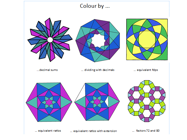 Colour by... number catalogue of solutions