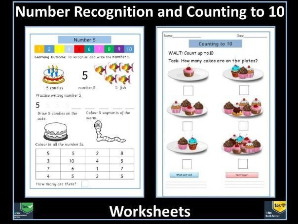 Counting to 10 and Number Recognition: Free Worksheets
