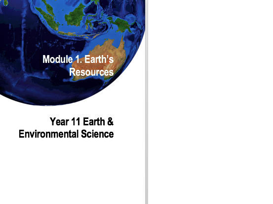 Earth & Environmental Science Syllabus workbooks cover pages.