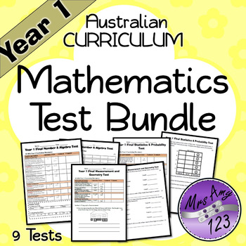 Year 1 Mathematics Test Pack- Australian Curriculum