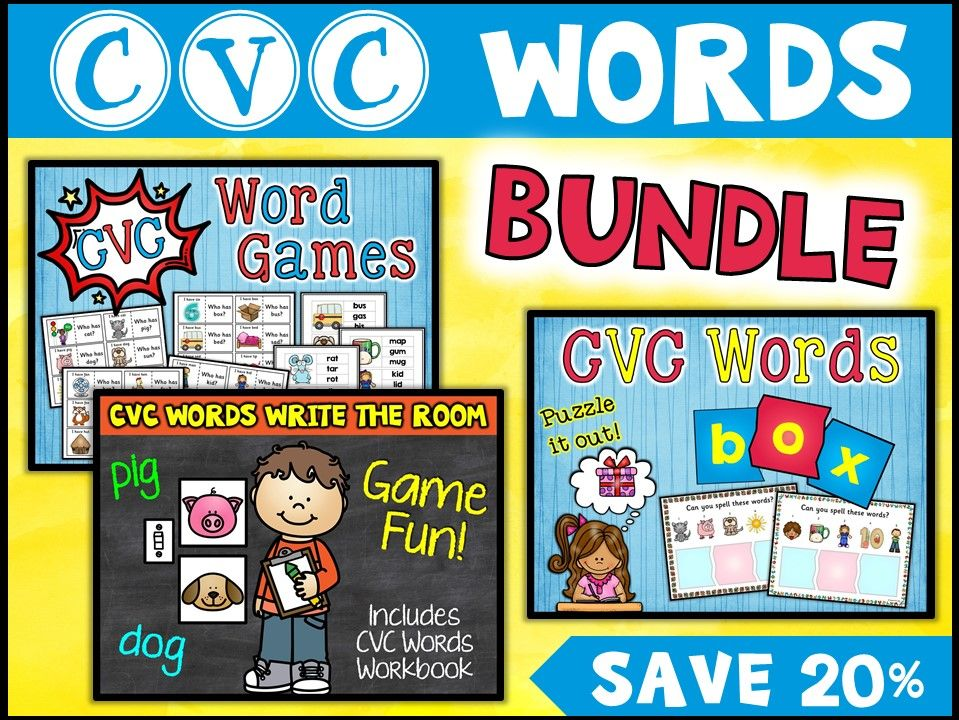 Vocabulary:  CVC Words Bundle