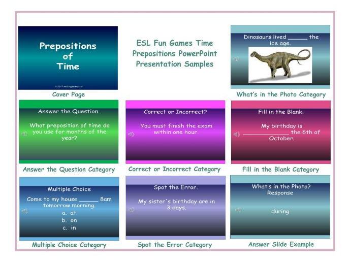Time Prepositions PowerPoint Presentation