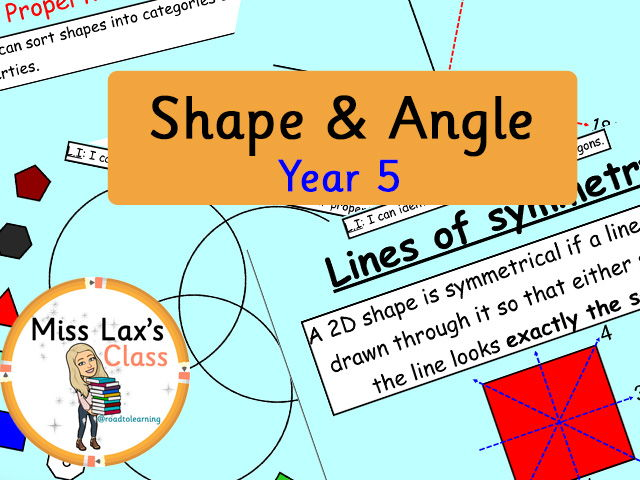 Year 5 Maths Mastery - Shape and Angle Scheme of Work (Notebook File) - Teaching Scaffold