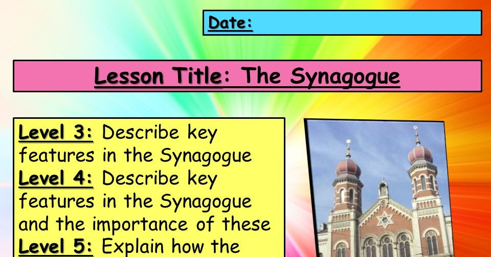Judaism - Synagogue lesson