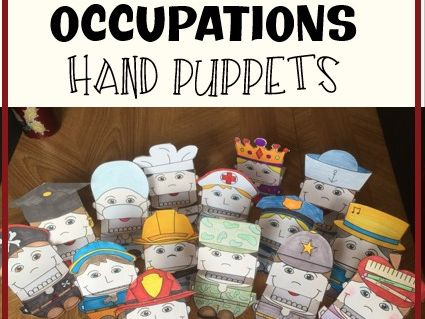 Occupations / Community Helpers Hand Puppets