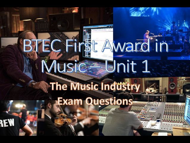 BTEC First Award for Music - Unit 1 Exam Questions