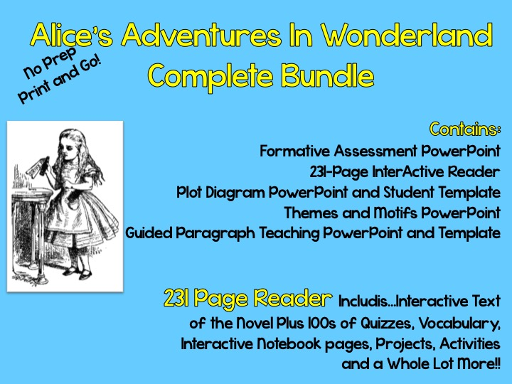 """Alice's Adventure's in Wonderland"" Complete Teaching Packet"