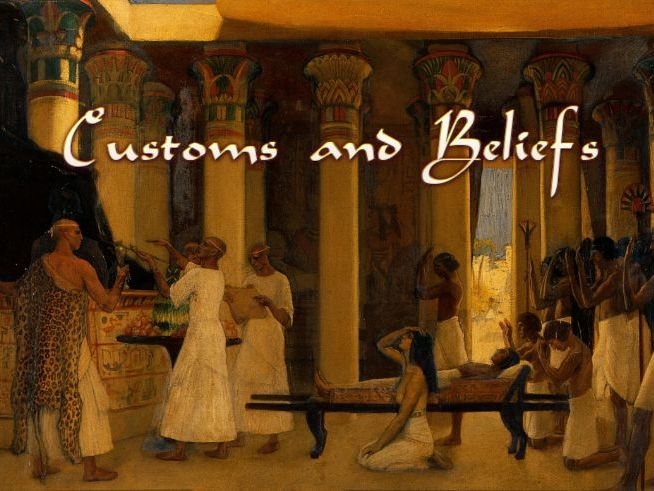 Egyptian Customs and Beliefs Audiobook & Activity