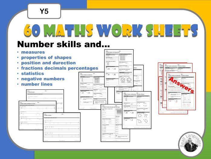 Maths Weekly Worksheets Y5
