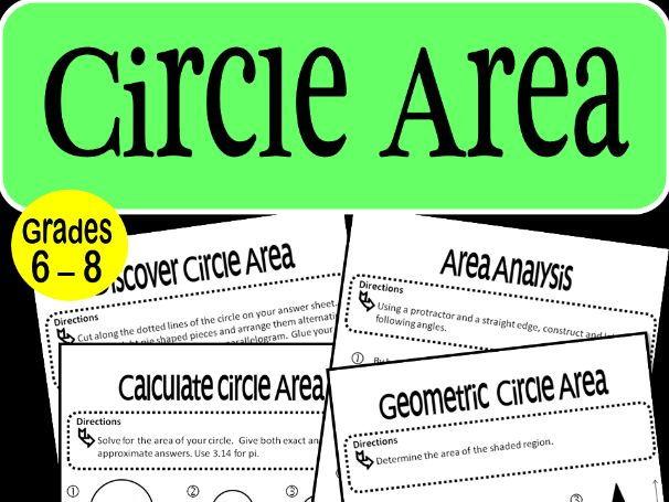 Circle Area Math Stations