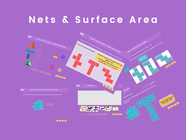 Nets & Surface Area - Year 8, Key stage 3 (US 7th grade)