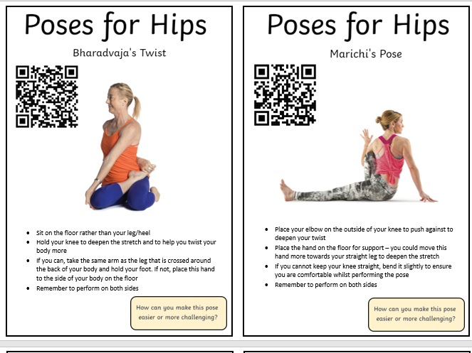 Yoga Poses - Cooperative Learning