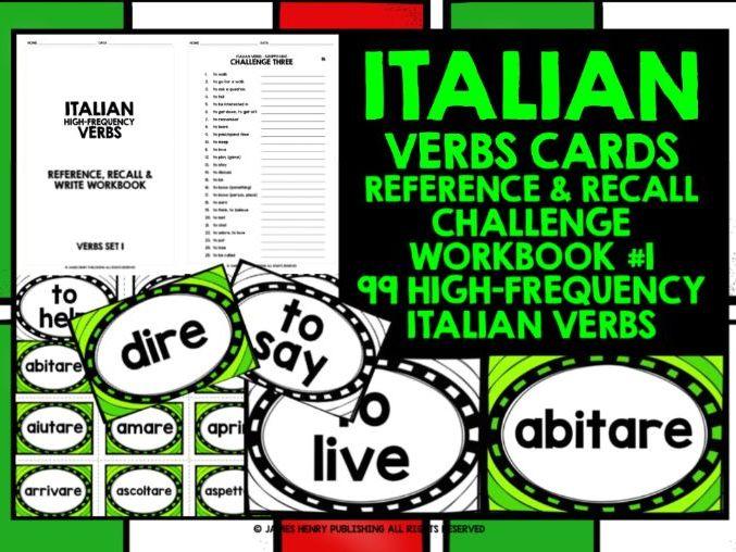 ITALIAN VERBS CARDS 1