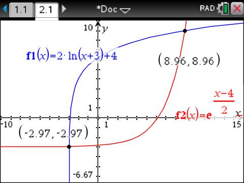 Inverses with exponential and logarithmic functions