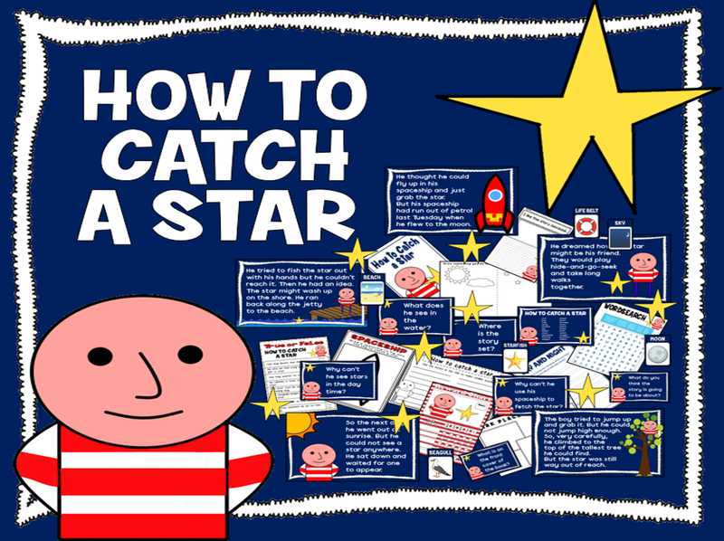 HOW TO CATCH A STAR STORY TEACHING RESOURCES EYFS KS 1-2 LITERACY