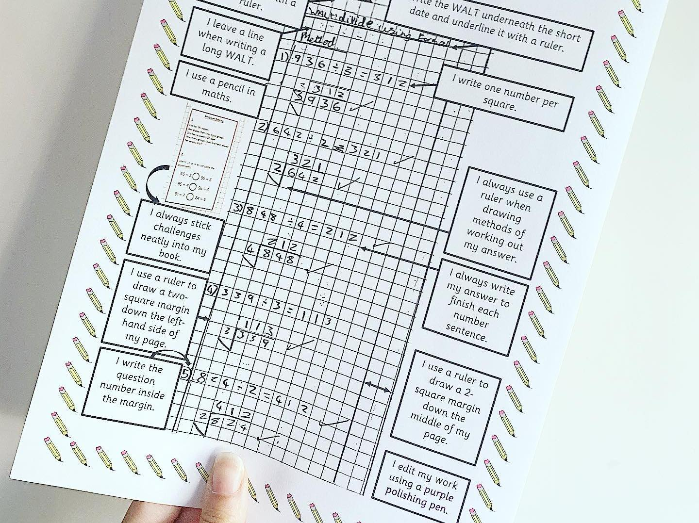 Maths Book Presentation Expectations  Poster
