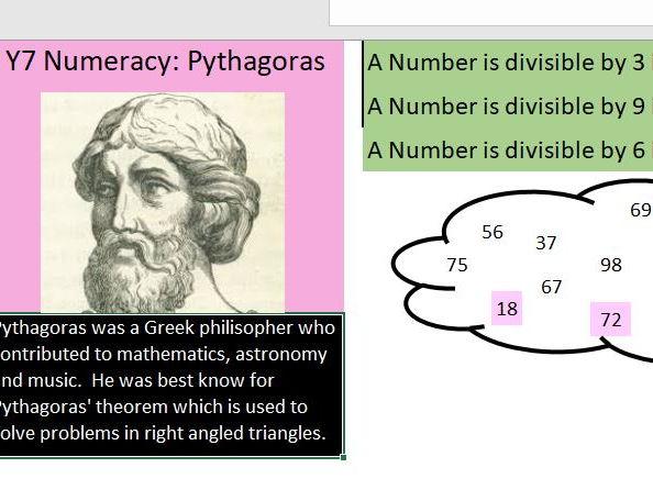 Basic skills maths starters Level 6 of 6:  Pythagoras