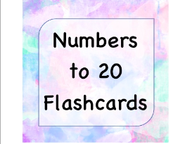 Numbers to 20 Flashcards EYFS KS1