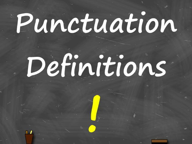 Punctuation Definitions – A4 Display
