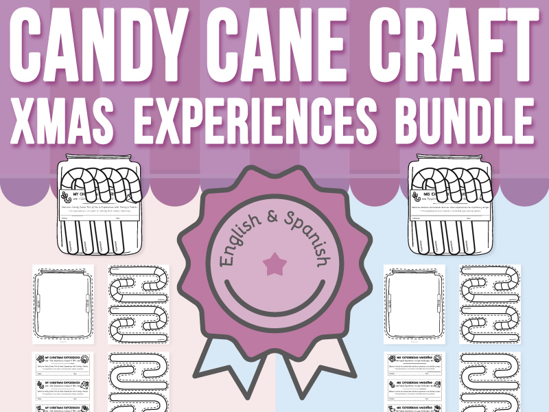 Candy Cane Craft - My Christmas Experiences BUNDLE