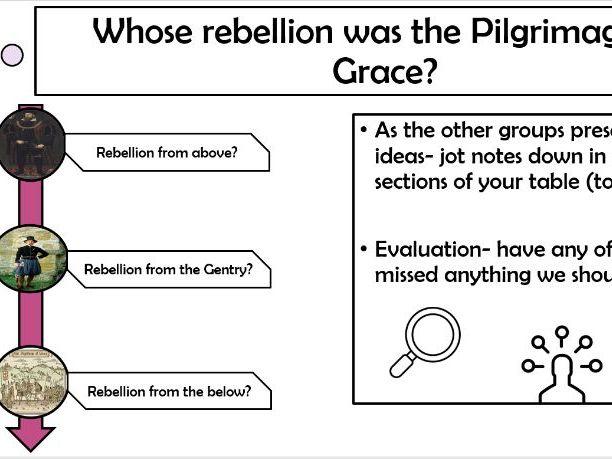 Tudor Rebellions PoG -Nature of Rebellion