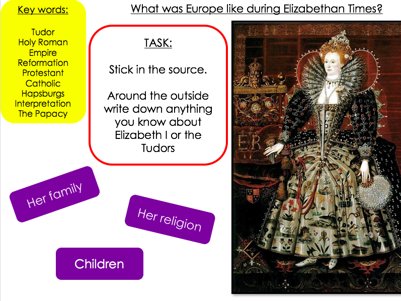 What was Europe like during Elizabethan times