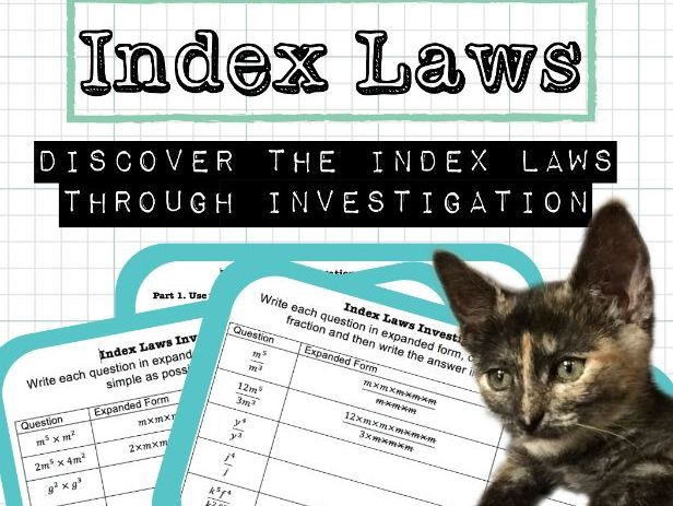 Index Laws Investigation Bundle