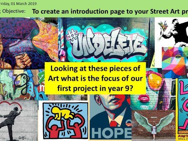 Art and Design Street Art/Graffiti Scheme of Work