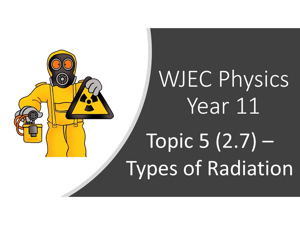 WJEC Physics 2.7 (Triple) / 6.5 (Double) Types of Radiation whole topic ppt
