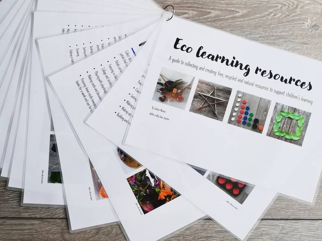 Recycled resources ideas pack