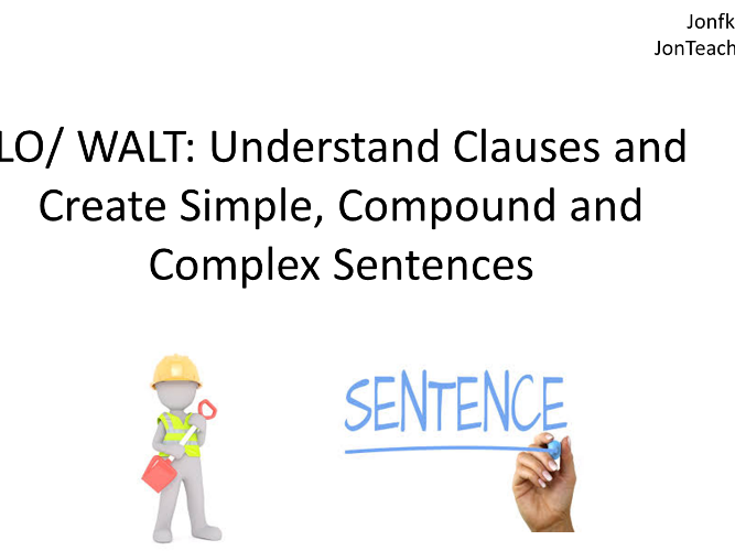 Conjunctions/ Connectives, Simple, Compound and Complex Sentences 101 for KS2 SATS