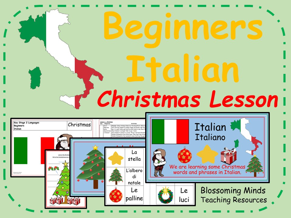 Italian lesson and resources - KS2 - Christmas