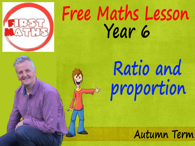 FREE YouTube Year 6 Ratio and  proportion  Maths PowerPoint Lesson -  Autumn Term