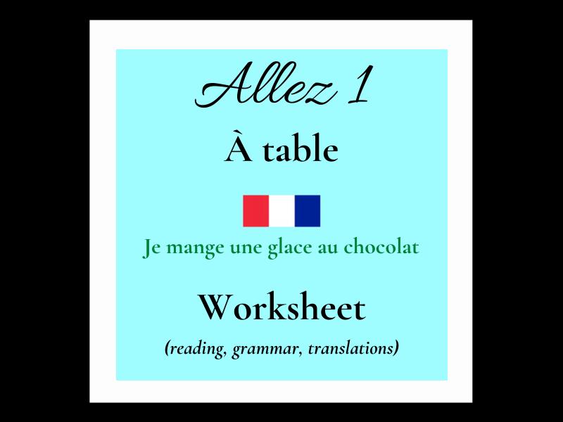 French la nourriture food  (Allez 1 4.3)