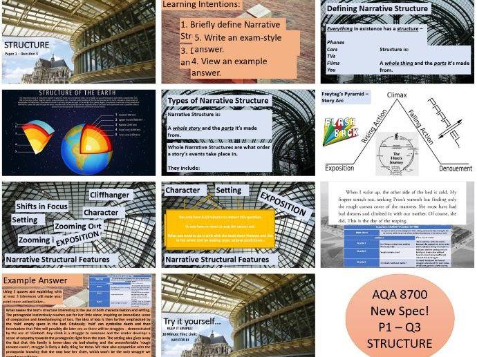 AQA 8700 GCSE English Language - Paper 1 Question 3 Structure