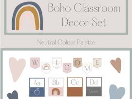 Boho/Neutral Classroom Decor Set