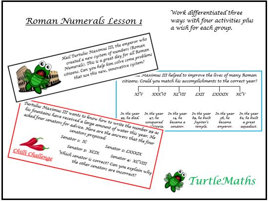 TurtleMaths Roman Numerals Lesson 1 - Place Value