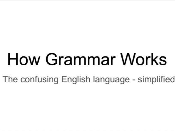 Grammar Terminology for Beginners