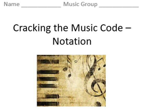 KS3 Cracking the Music Code (Notation) - Topic Booklet