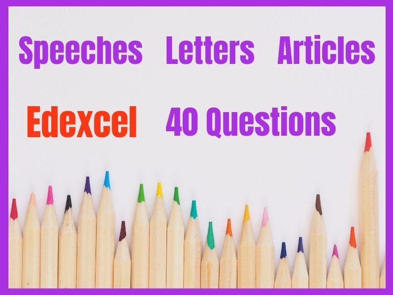 Transactional Writing  Edexcel Exam Questions