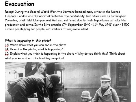 WW2 Evacuation: Work from home booklet