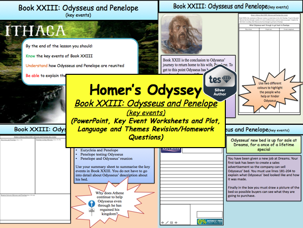 Homer's Odyssey – Book XXIII: Odysseus and Penelope (key events)
