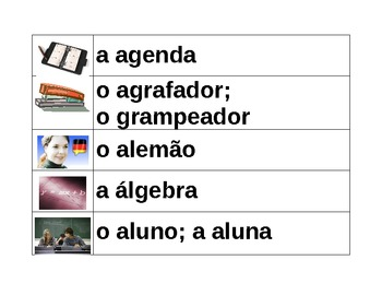 Escola School in Portuguese Word wall
