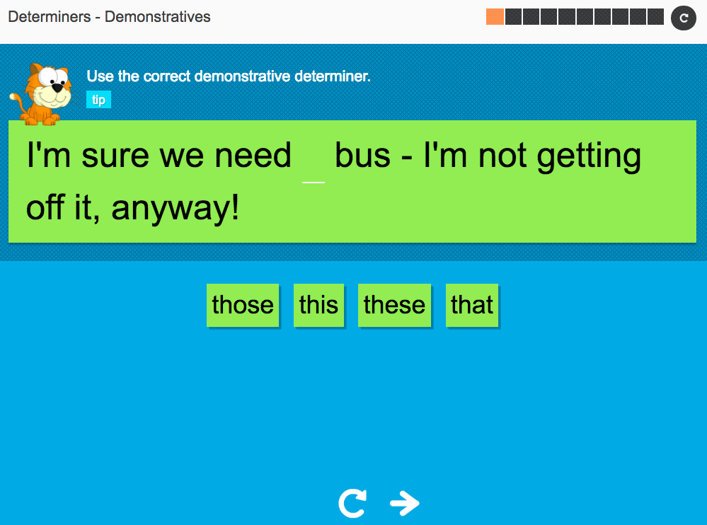 Demonstratives - Interactive Activity - KS3 Spag